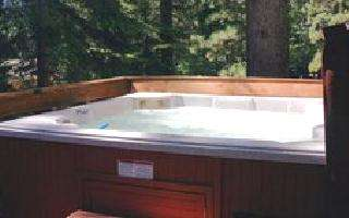 Private hot tub on rear deck